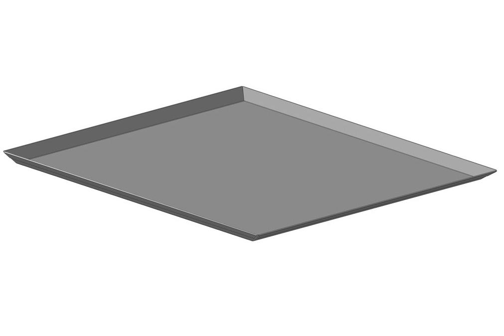 Лист плоский неперфорированный стальной,  4 борта х 45º  высотой  15 мм, размеры листа 400х600 мм; ЛГ-4Сх45º-400х600х15