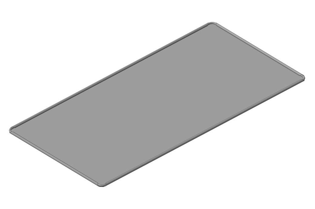 Лист плоский неперфорированный стальной, без бортов с завальцованной проволокой размеры листа 300х600 мм; ЛГ-0Спр-300х600