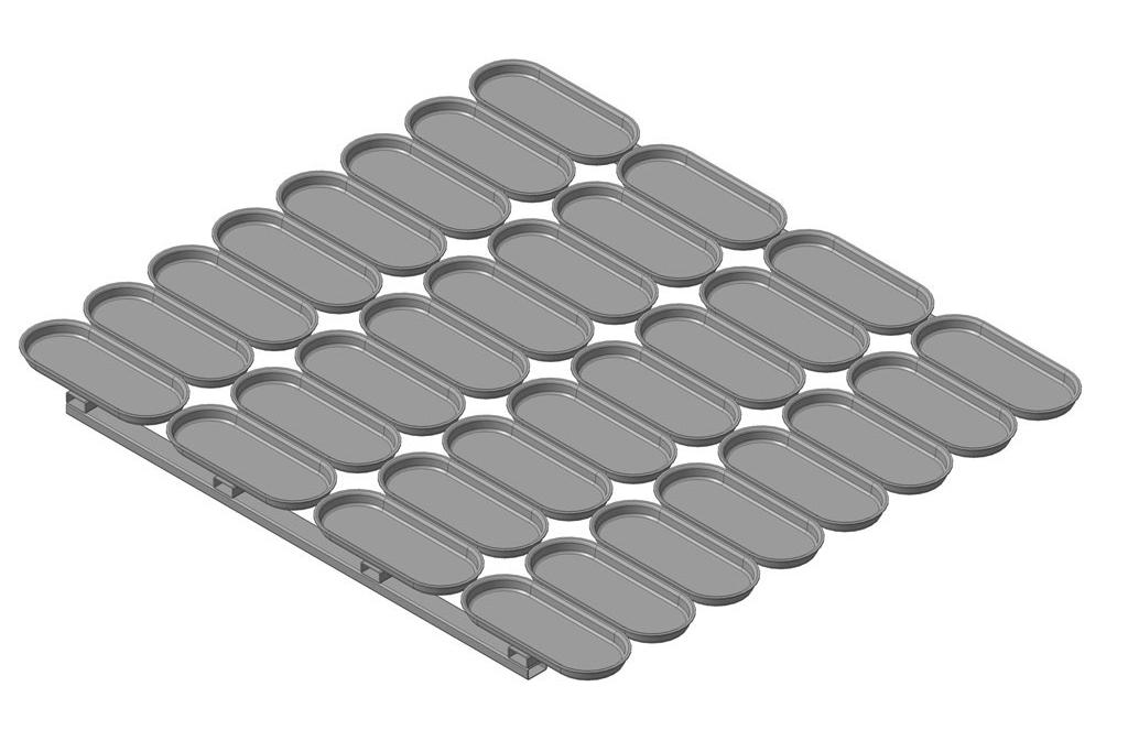 Сборка форм 40 ШО 20 с размерами 450х550 мм. Основание – каркас из гнутого Ш – образного профиля.