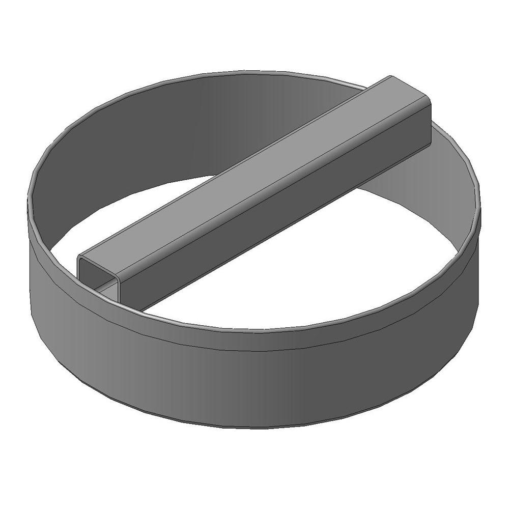 Вырезка для теста круглой формы: Ø 180х50; Ø 230х50 мм.