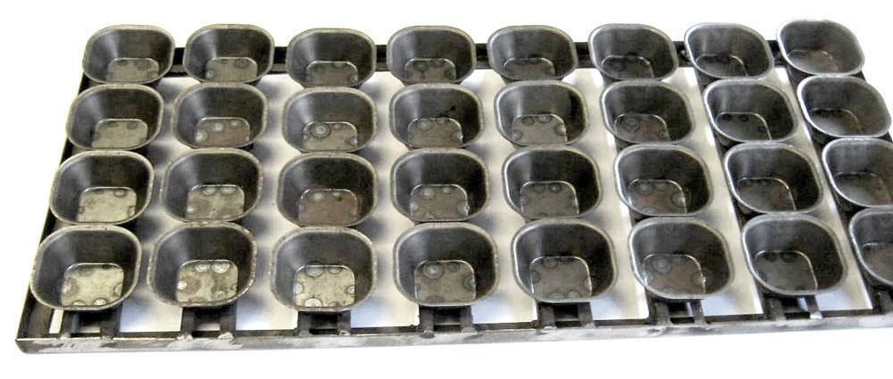Сборка кондитерских форм 32-Ш22, габаритные размеры сборки 300х660 мм